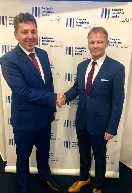 From left to right: J. Jirásek, Chairman of CMZRB's Board of Directors and EIB Vice-President V. Hudak / [Czech Republic] 21/01/2019 Copyright : EIB